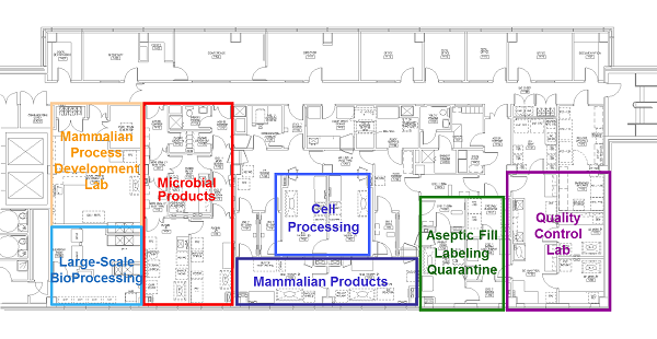 Facility Floor Plan Facility Waisman Biomanufacturing
